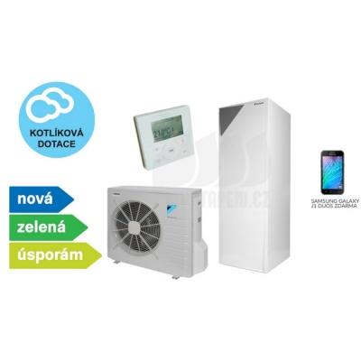 Tepelné čerpadlo DAIKIN Altherma 6 kW 230V + 180 litrový zásobník vody s BUH 3kW